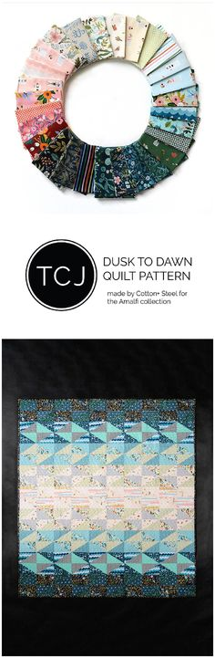 Cotton + Steel made this Dusk to Dawn Quilt Pattern by Then Came June to showcase their newest line Amalfi