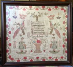 Antique Tapestry 1838 Mary Ann Pearsons