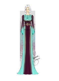 Fashion illustration by Laura Tessaris #fashionsketch #robertocavallo #lauratessaris
