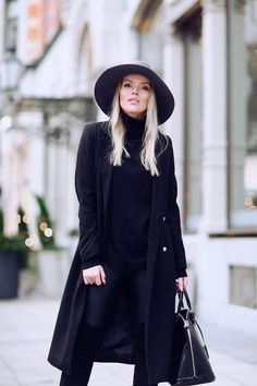 Black with a Hat