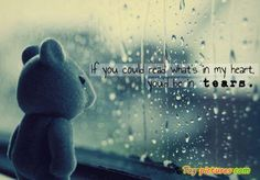 heart and tears quotes image