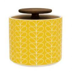 ORLA KIELY Storage Jar Small - Linear Stem Yellow