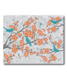 Look at this Spring Birds I Wrapped Canvas on #zulily today!