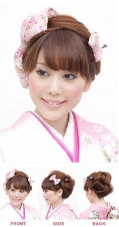 流行りの大きいリボンとかんざしを組み合わせた新日本髪スタイルです。コレもいい! Hair Styles, Fashion, Moda, Hairdos, Fasion, Hairstyles, Haircut Styles, Hair Style, Trendy Fashion