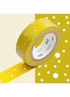 Masking Tape Lime met witte spatjes  Karton  Masking tape/Washi tape