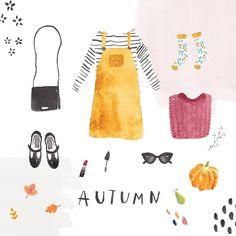 Gemma Luxton . illustration . { beautiful watercolour illustration . everything autumnal } .