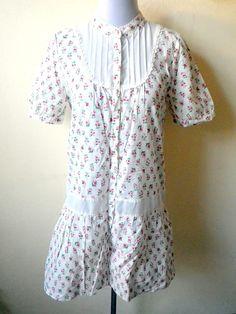white floral shirt dress (medium to large) $15