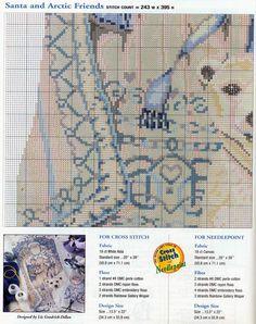 Schema punto croce Calza Babbonatale 21f