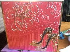 Embossed and tattered lace shoes