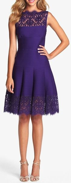 Adorable lace trimmed A-Line dress. http://rstyle.me/n/r2krhbg7t7