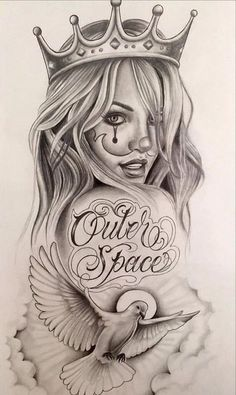 Easily Done Guides Chola Tattoo Designs Chicano Art Chola Gangster Cartoon Drawings Tattoo Design Drawings, Tattoo Sketches, Art Drawings, Tattoo Designs, Tattoo Ideas, Arte Cholo, Cholo Art, Tatoo Art, Body Art Tattoos