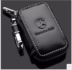 Genuine Leather cowhide Car Key Holder Keychain Ring Case Bag For Mercedes benz #Mercedesbenz