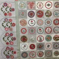 I spent a day prepping applique for the borders and realized that I misunderstood the… Applique Quilts, Embroidery Applique, Mini Quilts, Baby Quilts, Petra Prins, American Patchwork And Quilting, Susan Smith, Sampler Quilts, English Paper Piecing