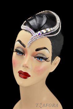 """Leizu"" - Dancesport accessories. Ballroom hair accessory and ballroom jewelry made with Swarovski, available at www.tzafora.com © 2016 Tzafora. Handmade in Canada."