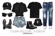 """""""Couple Idol Outfit: Jungkook"""" by btsoutfits ❤ liked on Polyvore featuring T By Alexander Wang and Dsquared2"""