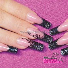 flower one stroke nails. Beautiful one stroke nail art – with … Schulungen Nageldesign 234 best Nail Fabulous Nails, Gorgeous Nails, Gothic Nail Art, Diy Your Nails, Luminous Nails, Airbrush Nails, Black Acrylic Nails, Edge Nails, Silver Nails