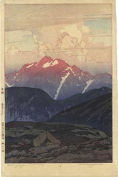 Yoshida Hiroshi, 1926  12 Scenes in Japan Alps / Mt.Tsurugi in the Morning  吉田博「日本アルプス十二題の内 剣山の朝」/