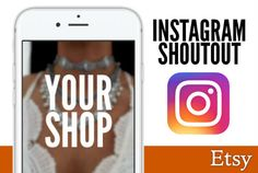 shoutout your ETSY shop on Instagram to 40,000 shoppers by cwfiver
