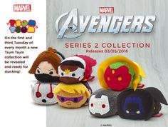 The Avengers Series 2 Marvel Disney Tsum Tsum collection is scheduled to be released in the US on May 3, 2016. The collection will include six characters including Falcon, Vision, Ant-Man, Hawkeye, War Machine and Black Panther (Winter Soldier was not released in the US).