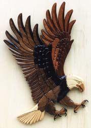 Bald Eagle Intarsia Woodworking Pattern