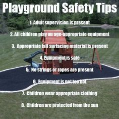 Summer is here, so keep these Playground Tips in mind!Dr. Marc E. Goldenberg, Dr. Kate M. Pierce, and Dr. Matthew S. Applebaum Pediatric Dental Office Greensboro, NC