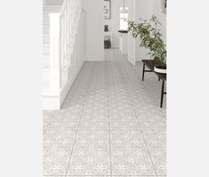 Mr Jones Cream Pattern Wall and Floor Tile - Tiles from Tile Mountain Kitchen Floor Tile Patterns, Bathroom Floor Tiles, Wall And Floor Tiles, Floor Patterns, Wall Patterns, Victorian Hallway Tiles, Tiled Hallway, Modern Hallway, Victorian Kitchen