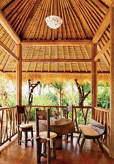 fabulous thatched roof outdoor space in the british west indies style West Indies Style, British West Indies, Tropical Houses, Tropical Decor, Tropical Style, Tropical Design, Tropical Paradise, Architectural Digest, Outdoor Rooms