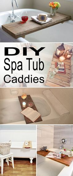 DIY Spa Tub Caddies! • Check out all these wonderful diy projects and tutorials that will convert your ordinary bathtub into a luxurious spa experience!