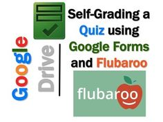 This lesson includes screen shots and step-by-step instruction bubbles to enable you to create a self-grading quiz using Google Forms and Flubaroo.FlubarooGrade online assignments in under a minute!Get reporting and analysis on student performance!Email students their scores.Click on the link below for a bundle of lessons on using many of the features in Google Drive including Docs, Sheets, Slides, Forms and DrawingsGoogle Drive Bundle