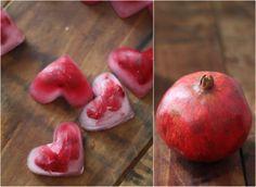 17 Apart: DIY Valentine: Pomegranate Seed Ice Cube Hearts
