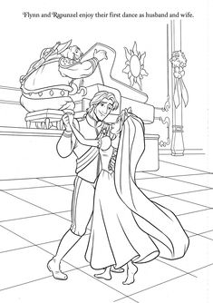Rapunzel Wedding Coloring Papges