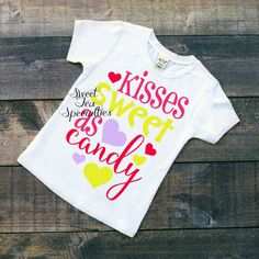 Kisses Sweet as Candy Valentines Day Girls by SweetTeaSpecialties