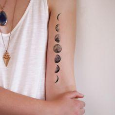 Moon phase temporary tattoo