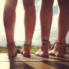 Friendship anklets - the REAL jewelry!