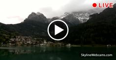 Wonderful view of Alleghe at the foot of the Dolomites