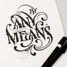 """Résultat de recherche d'images pour """"brush hand lettering"""