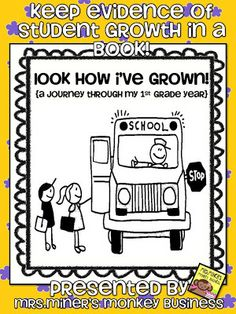 Mrs. Miner's Kindergarten Monkey Business: Tracking Progress Freebie for Back to School