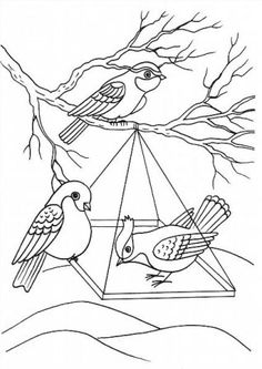 "Színező ""madarak télen a jászolban"" download és nyomtatási ingyen Cool Coloring Pages, Adult Coloring Pages, Feeding Birds In Winter, Embroidery Patterns, Hand Embroidery, Printable Coloring, Stone Painting, Winter Season, Art For Kids"