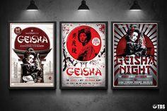 3 FLYERS PSD - Geisha Party Flyer Templates V.2