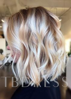 Apr 2020 - Pretty Short Length Natural Casual Wavy Remy Human Hair Lace Front Wig – wigsiu Longbob Hair, Color Rubio, Ombre Hair Color, Looks Chic, Blonde Balayage, Blonde Hair, Ash Blonde, Light Blonde, Remy Human Hair