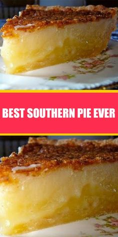 """I made this pie recipe for Christmas, and it was my first time ever. It was so easy and it turned out wonderful. Everyone loved it. """"Delicious"""" I have made this pie now about 4 times Southern Desserts, Köstliche Desserts, Delicious Desserts, Dessert Recipes, Yummy Food, Southern Food Recipes, Southern Christmas Recipes, Winter Desserts, Pie Dessert"""