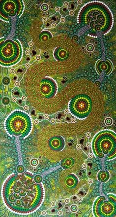 """""""Rainforest Python"""" Colin Jones   Colin Jones was born in Ipswich, Queensland, and is of Kaladoon and Nunuckle tribal descent. Colin's Aboriginal name is Ko-Ro, which means Brolga wings.  Colin has undertaken extensive graduate work, developing a rich and diverse knowledge of Aboriginal culture.  Each of Colin's works are based on Aboriginal Dreaming stories passed down through the generations.  Colin's art has been exhibited in leading galleries in Europe, America, Great Britain and…"""