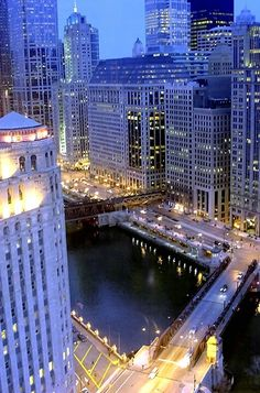 View of Chicago! Can't wait to visit the windy city one day! Places Around The World, Oh The Places You'll Go, Places To Travel, Places To Visit, Around The Worlds, Wonderful Places, Great Places, Beautiful Places, Amazing Places