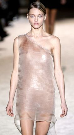 Pale rose- Stella McCartney. Sasha Pivovarova.
