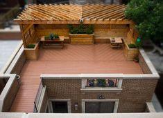Garage roof deck