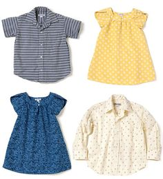 Cute prints and colors.  Especially that yellow and blue!