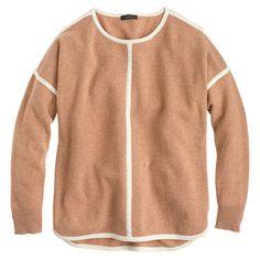 j.crew Lambswool tipped sweater-tunic $89.50
