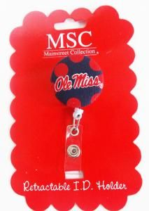 Ole Miss Retractable ID Holder - Campus Book Mart