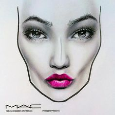 #facechart #maccosmetics #black&white #mineralizelipstick #lips #makeupart