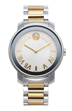 Movado 'Bold' Two-Tone Round Bracelet Watch, 39mm available at #Nordstrom